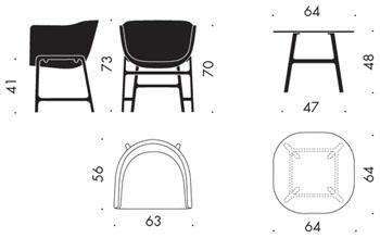 Minuscule cm200 lounge sessel mit naturlederpaspeln for Stuhl design dwg