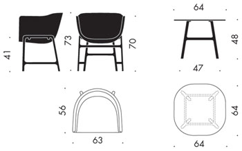 charles eames lounge chair 1956 in autocad drawing bibliocad