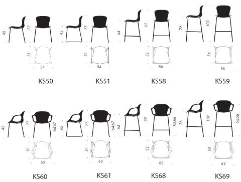 Nap ks68 counter stool w arms fritz hansen for Barhocker dwg