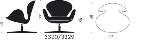 3320, Swan Chair, easy chair