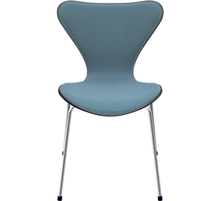 3107 - Front Upholstered, Shell: Coloured Ash (Lazur), Black, Front Upholstery: Tonus, Grey, Chromed Steel