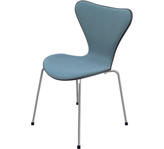 3107 - Front Upholstered, Shell: Coloured Ash (Lazur), Black, Front Upholstery: Tonus, Grey
