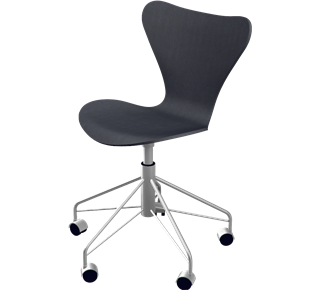 3117 - Without Upholstery, coloured ash, Black, Chromed Steel