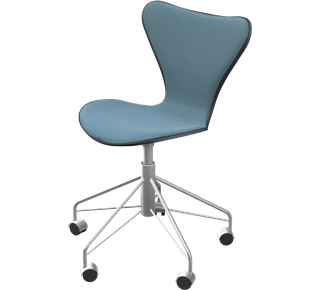 3117 - Front Upholstered, Shell: coloured ash 2015, Black, Front Upholstery: Tonus, Grey, Chromed Steel