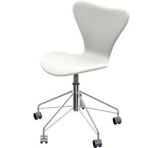 3117 -  Fully Upholstered, Divina Melange, Light Grey, Chromed Steel