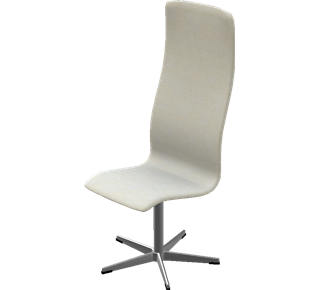 3172 - 3172, High back, no arms, fixed height, Hallingdal, Sand, Satin Polished Aluminum