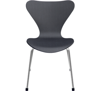 3177 - 3177, Children's chair, Coloured Ash (Lazur), Black, Chromed Steel