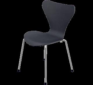 3177 - 3177, Children's chair, coloured ash, Black, Chromed Steel