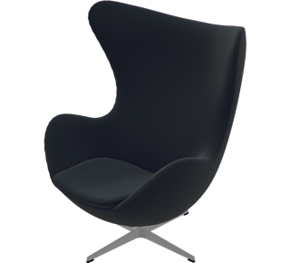 3316 - 3316, Egg Chair, easy chair, Fame, Black