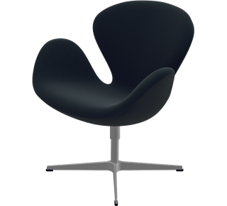 3320 - 3320, Swan Chair, easy chair, Hallingdal, Black