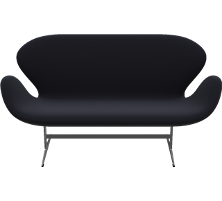 3321 - 3321, 2-seater sofa, Hallingdal, Black