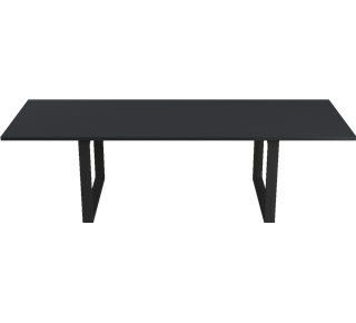 CM32 - CM32, Table, solid wood, Tabletop: Black lacquered Oak, Base: Black lacquered Oak