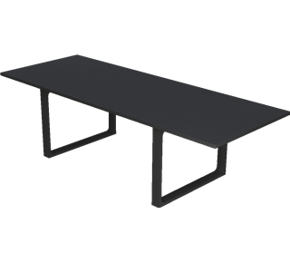 CM32 - CM32, テーブル 無垢材, Tabletop: Black lacquered Oak, Base: Black lacquered Oak