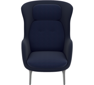 JH1 - Designer Selections, Designer Selections, Dark Blue, Shell: Designer Colours, Navy, Cushion: Designer Colours, Dark Blue, Brushed Aluminum