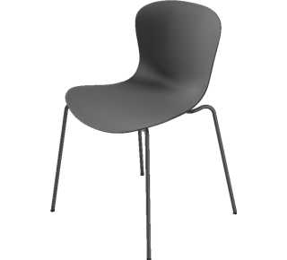 KS50 - without upholstery, NAP Shell, Pepper Grey, Pepper Grey