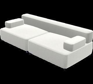 Seater modular sofa ina melange light grey ina melange
