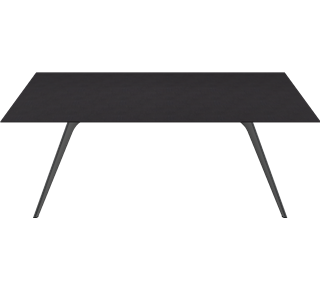 TB5 - TB5, Individual Table, Veneer, Black Ash, T-No. 1 Base, Black Powder Coated