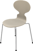 Ant™, Ash, Clear lacquer/Natural veneer, Chromed Steel