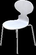 Ant™, White, coloured ash, Chromed Steel