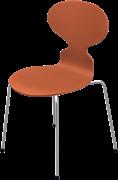 Ant™, Chevalier Orange, coloured ash, Chromed Steel