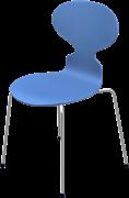 Ant™, Trieste Blue, coloured ash, Chromed Steel