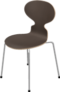 Ant™, Dark Stained Oak, Clear lacquer/Natural veneer, Chromed Steel