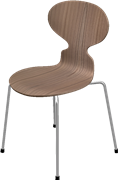 Ant™, Elm, Clear lacquer/Natural veneer, Chromed Steel