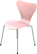 Series 7™, Altstadt Rose, coloured ash, Chromed Steel, 3107 Base