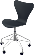 Series 7™ Swivel chair, Black , Lacquered, Chromed Steel