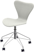 Series 7™ Swivel chair, Chromed Steel, Light Grey, Divina Melange
