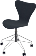 Series 7™ Swivel chair, Black, Divina MD, Chromed Steel