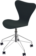 Series 7™ Swivel chair, Black , Remix, Chromed Steel