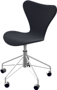 Series 7™ Swivel chair, Chromed Steel, Black, Tonus