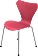 Series 7™ Childrens Chair, Red, Coloured Ash (Lazur), Chromed Steel