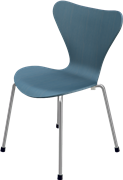Series 7™ Childrens Chair, Petrol Blue, Coloured Ash (Lazur), Chromed Steel