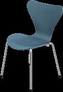 Series 7™ Childrens Chair, Petrol Blue, Coloured Ash (Lazur), Chromed Steel