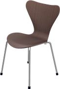 Series 7™ Childrens Chair, Walnut, Clear lacquer/Natural veneer, Chromed Steel