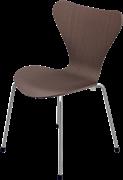 Series 7™ Childrens Chair, Walnut, Natural veneer, Chromed Steel