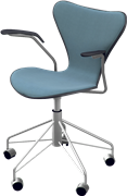 Series 7™ Swivel chair, 3217, Swivel armchair, Front Upholstered