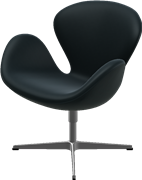 Swan™, Black , Classic Leather, Satin Polished Aluminum
