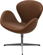 Swan™, Walnut, Elegance Leather, Satin Polished Aluminum