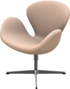 Swan™, Natural, Natural Leather, Satin Polished Aluminum