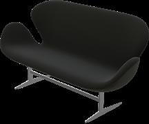 Swan Sofa™, Black, Fame