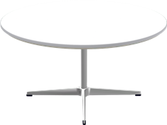 Table Series Pedestal base, A223, Coffee table, circular