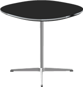 Table series Pedestal Base, Black, Laminate, Aluminum