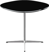 Table series Pedestal Base, Aluminum, Black, Linoleum
