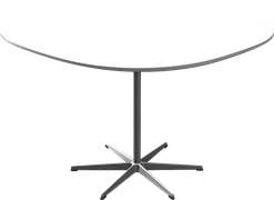 Table series Pedestal Base, White, Laminate, Aluminum