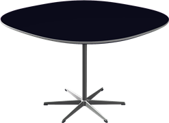 Table series Pedestal Base, Black, Linoleum, Aluminum