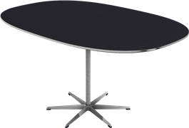 Table series Pedestal Base, A812, Super-Elliptical