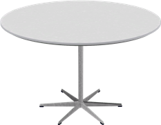 Table series Pedestal Base, A825, Circular